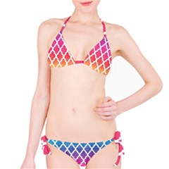 Colorful Rainbow Moroccan Pattern Bikini Set
