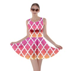 Colorful Rainbow Moroccan Pattern Skater Dress