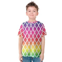 Colorful Rainbow Moroccan Pattern Kids  Cotton Tee