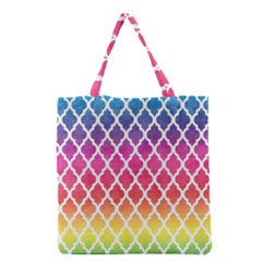 Colorful Rainbow Moroccan Pattern Grocery Tote Bag