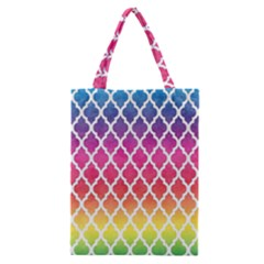 Colorful Rainbow Moroccan Pattern Classic Tote Bag