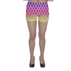Colorful Rainbow Moroccan Pattern Skinny Shorts