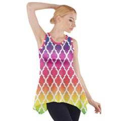 Colorful Rainbow Moroccan Pattern Side Drop Tank Tunic