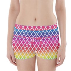 Colorful Rainbow Moroccan Pattern Boyleg Bikini Wrap Bottoms