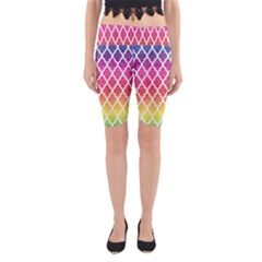 Colorful Rainbow Moroccan Pattern Yoga Cropped Leggings