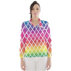 Colorful Rainbow Moroccan Pattern Wind Breaker (Women)