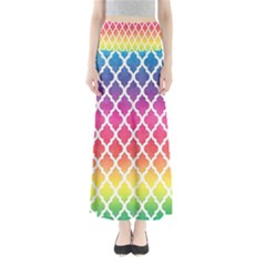 Colorful Rainbow Moroccan Pattern Maxi Skirts