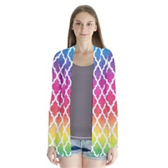 Colorful Rainbow Moroccan Pattern Cardigans