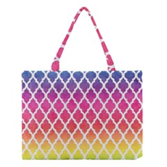 Colorful Rainbow Moroccan Pattern Medium Tote Bag