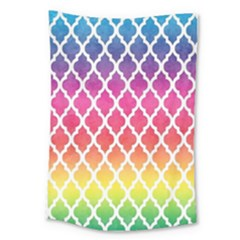 Colorful Rainbow Moroccan Pattern Large Tapestry