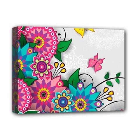 Flowers Pattern Vector Art Deluxe Canvas 16  X 12
