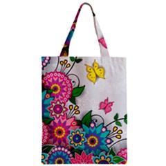 Flowers Pattern Vector Art Classic Tote Bag