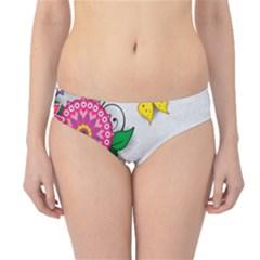 Flowers Pattern Vector Art Hipster Bikini Bottoms