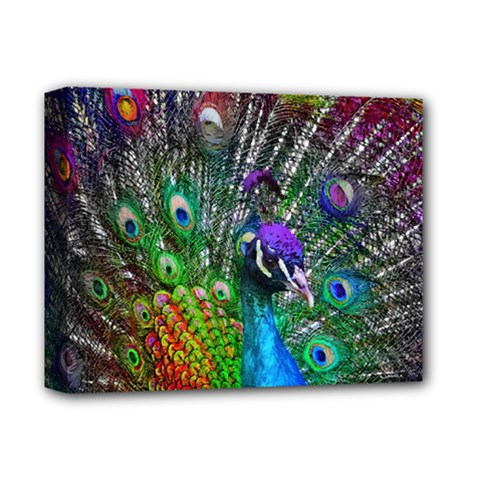 3d Peacock Pattern Deluxe Canvas 14  X 11