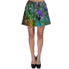 3d Peacock Pattern Skater Skirt
