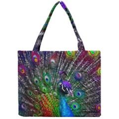 3d Peacock Pattern Mini Tote Bag