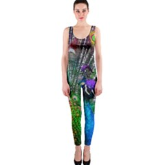 3d Peacock Pattern OnePiece Catsuit
