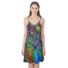 3d Peacock Pattern Camis Nightgown