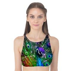 3d Peacock Pattern Tank Bikini Top