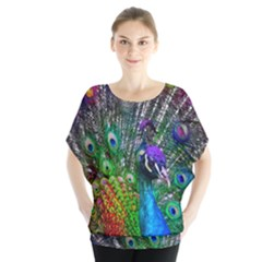 3d Peacock Pattern Blouse