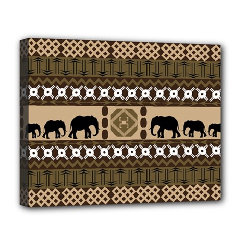 African Vector Patterns  Deluxe Canvas 20  X 16