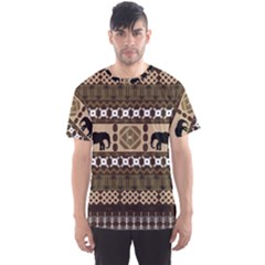 African Vector Patterns  Men s Sport Mesh Tee