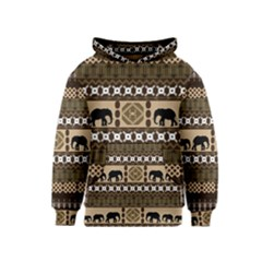 African Vector Patterns  Kids  Pullover Hoodie