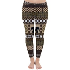 African Vector Patterns  Classic Winter Leggings