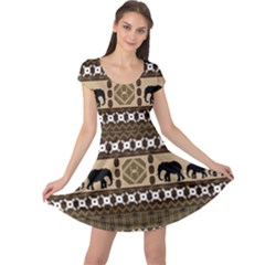 African Vector Patterns  Cap Sleeve Dresses