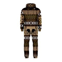 African Vector Patterns  Hooded Jumpsuit (kids)