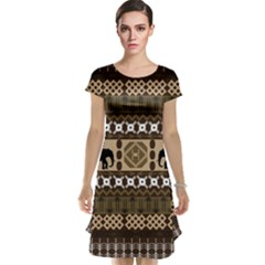 African Vector Patterns  Cap Sleeve Nightdress