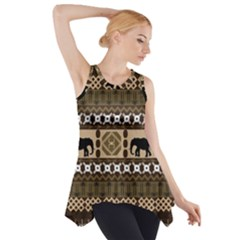 African Vector Patterns  Side Drop Tank Tunic