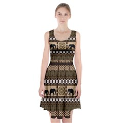 African Vector Patterns  Racerback Midi Dress