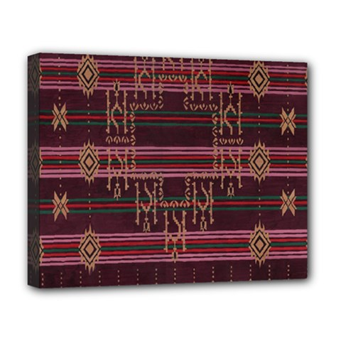 Ulos Suji Traditional Art Pattern Deluxe Canvas 20  x 16