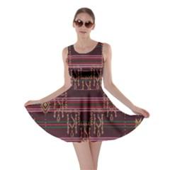 Ulos Suji Traditional Art Pattern Skater Dress