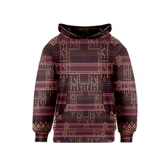 Ulos Suji Traditional Art Pattern Kids  Pullover Hoodie