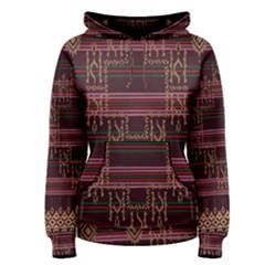 Ulos Suji Traditional Art Pattern Women s Pullover Hoodie