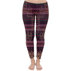 Ulos Suji Traditional Art Pattern Classic Winter Leggings