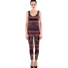 Ulos Suji Traditional Art Pattern OnePiece Catsuit