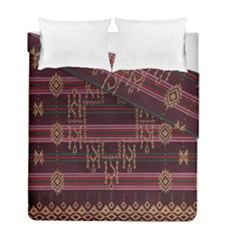 Ulos Suji Traditional Art Pattern Duvet Cover Double Side (full/ Double Size)