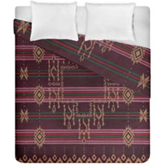 Ulos Suji Traditional Art Pattern Duvet Cover Double Side (california King Size)