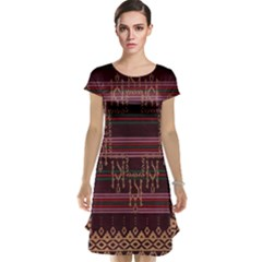 Ulos Suji Traditional Art Pattern Cap Sleeve Nightdress