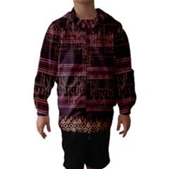 Ulos Suji Traditional Art Pattern Hooded Wind Breaker (Kids)