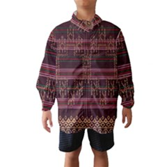 Ulos Suji Traditional Art Pattern Wind Breaker (kids)
