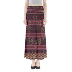 Ulos Suji Traditional Art Pattern Maxi Skirts