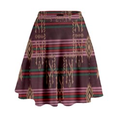 Ulos Suji Traditional Art Pattern High Waist Skirt