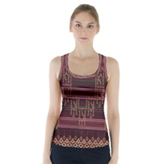 Ulos Suji Traditional Art Pattern Racer Back Sports Top