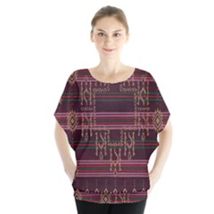Ulos Suji Traditional Art Pattern Blouse