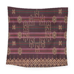 Ulos Suji Traditional Art Pattern Square Tapestry (large)