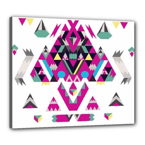 Geometric Play Canvas 24  x 20